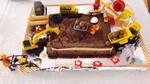 gâteau travaux chantier anniversaire