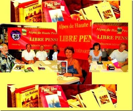 Forum des associations à Digne, le 06-09-14, La Libre Pensée 04 y sera!