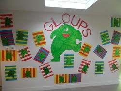 GLOUPS s'est installé sur un de nos murs!!!