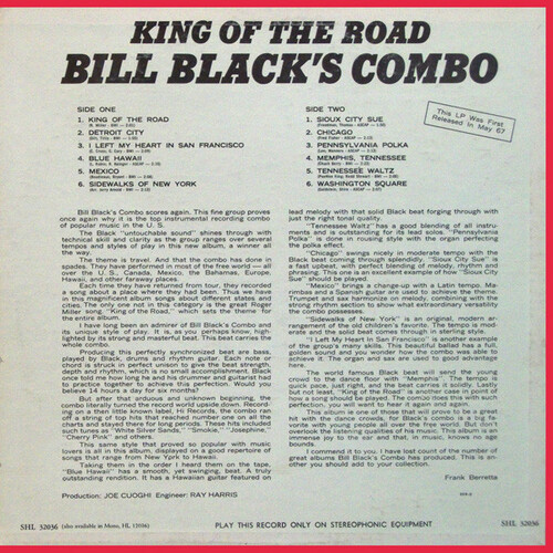 "Bill Black's Combo : Album "" King Of The Road "" Hi Records SHL 32036 [ US ]"