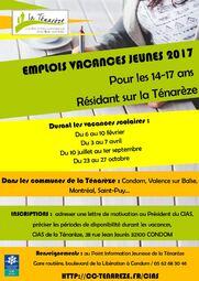 EMPLOIS VACANCES JEUNES 2017