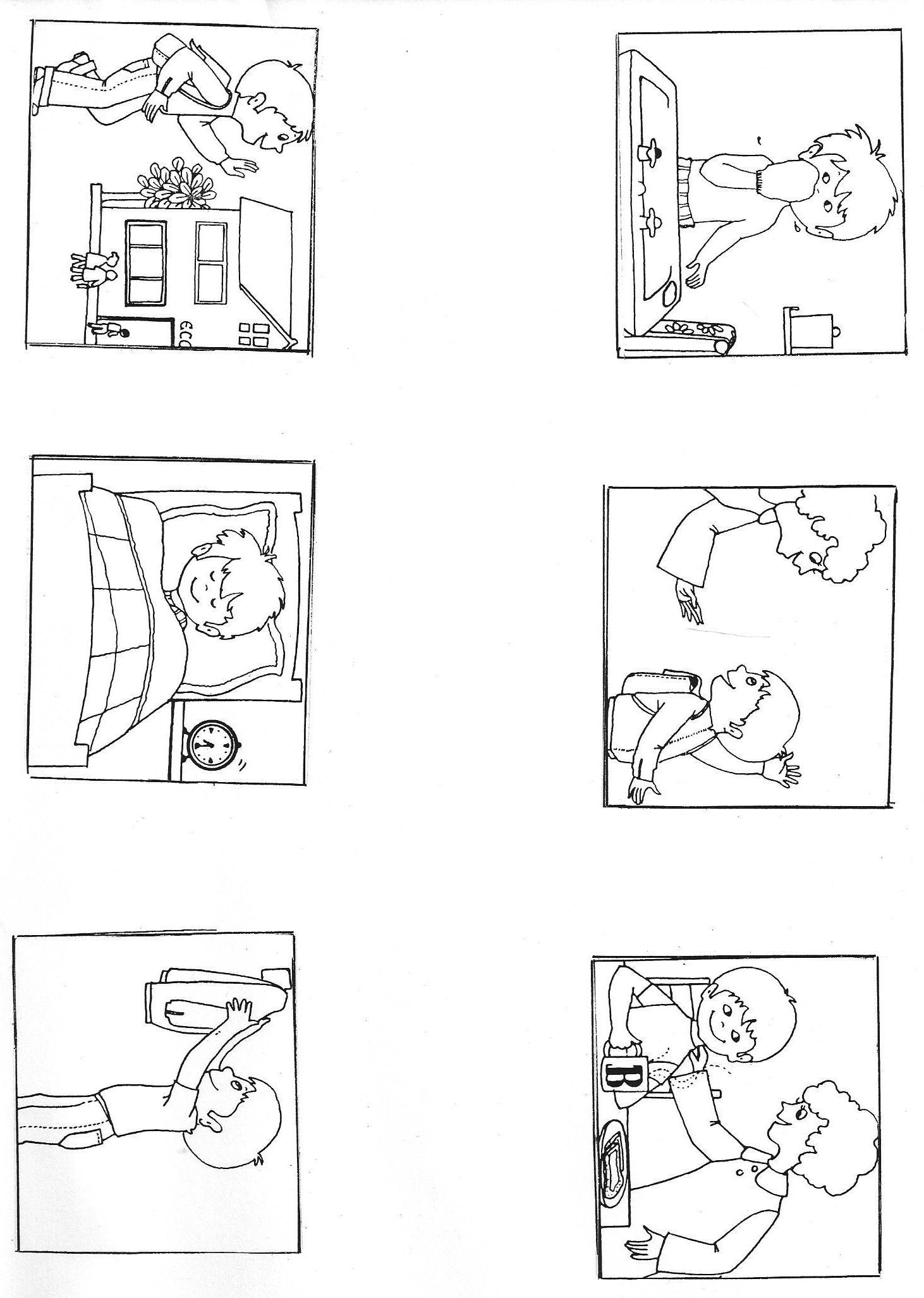 """Images séquentielles """"Une journée d'école"""" (8 images)"""