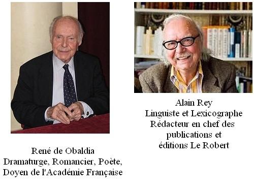 René de Obaldia et Alain Rey
