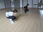 Séance de gymnastique dans la salle Lassagne.