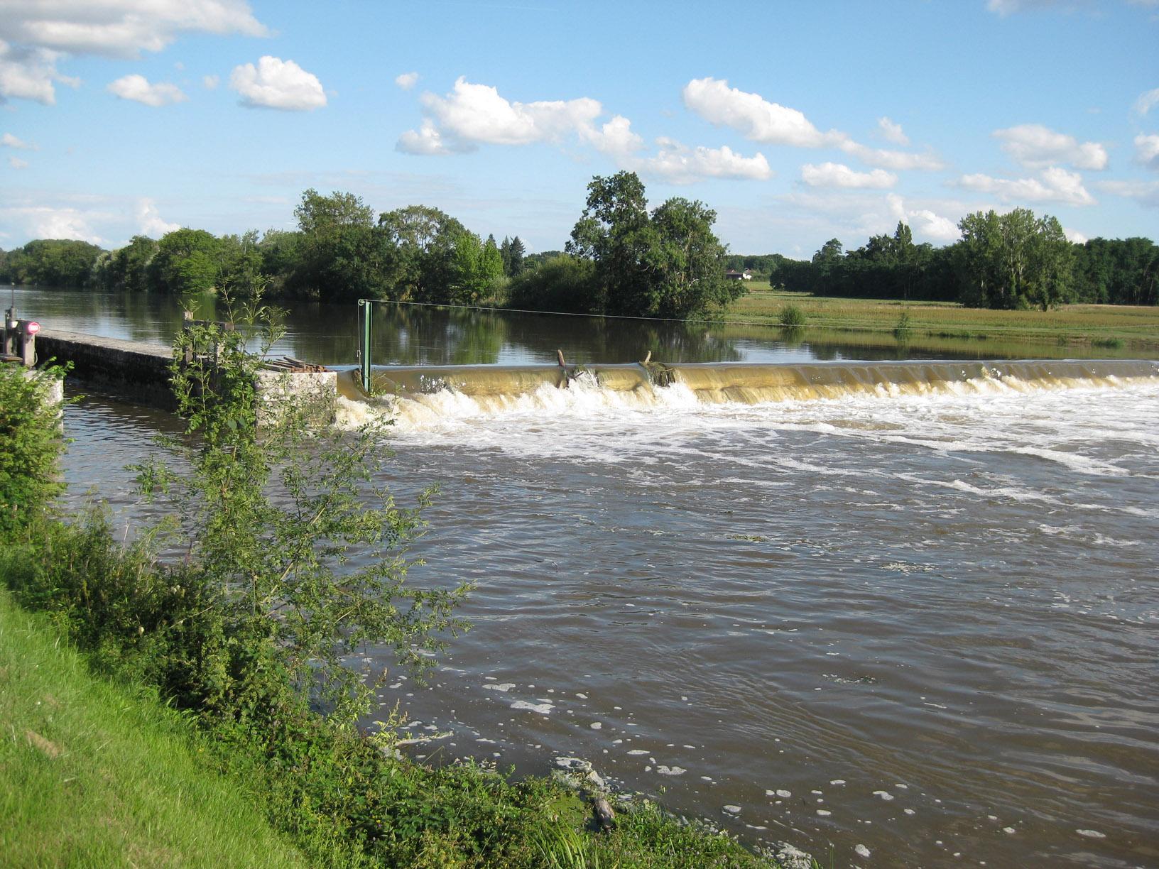 Barrage de Civray le 16 août 2014