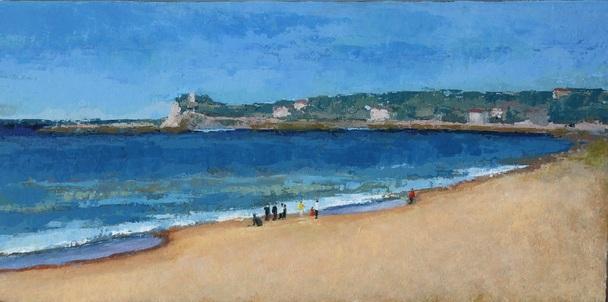 Sur la plage de St Jean de Luz