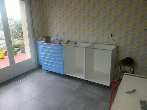 Rénovation de l'atelier avant/après