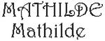 Dictons de la Ste Mathilde + grille prénom  !