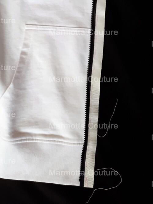 Transformation d'un sweat-shirt en blouson