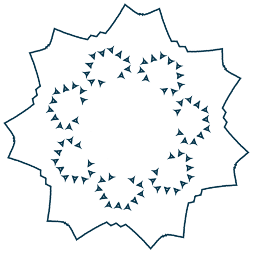 Motifs simples pour décorer des carrés en patchwork ou autres couleur bleu