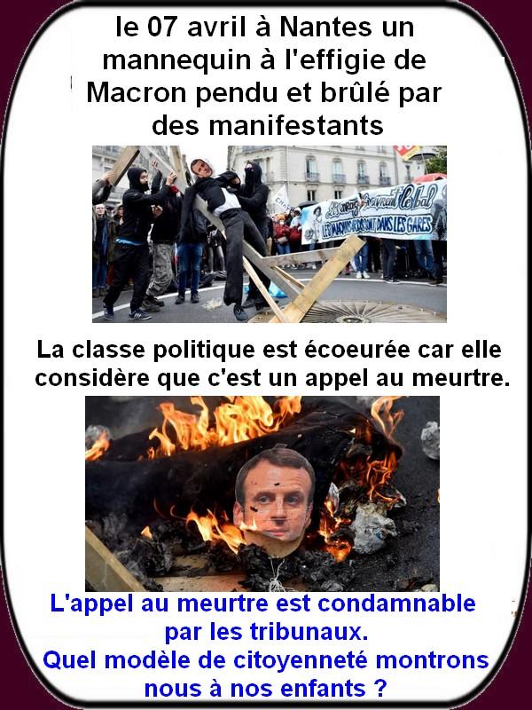 """La France qui marche sur la tête  """"acte 7""""."""