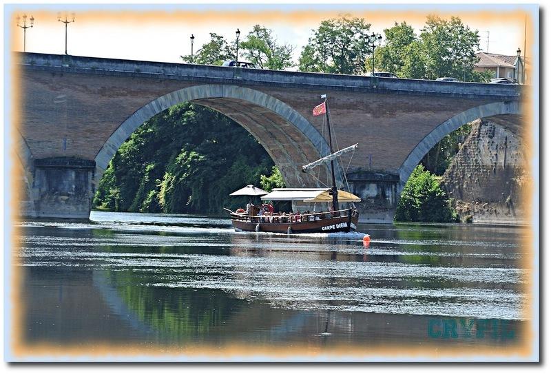 Bergerac, l'arrivée d'une gabarre