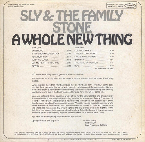 "Sly & The Family Stone : Album "" A Whole New Thing "" Epic Records BN 26324 [ US ]"