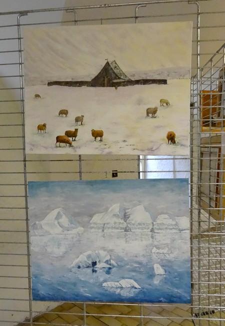 Voici les tableaux des artistes qui ont exposé au quatrième salon de peinture des Amis du Châtillonnais..