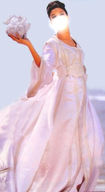 Takchita blanche mariage S525