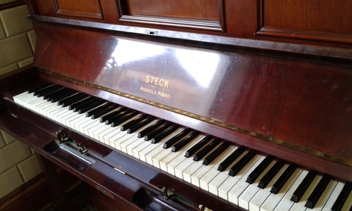 Un pianola Steck rejoint mon sanctuaire !