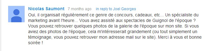 Le passage de la Poste . extrait commentaires You Tube