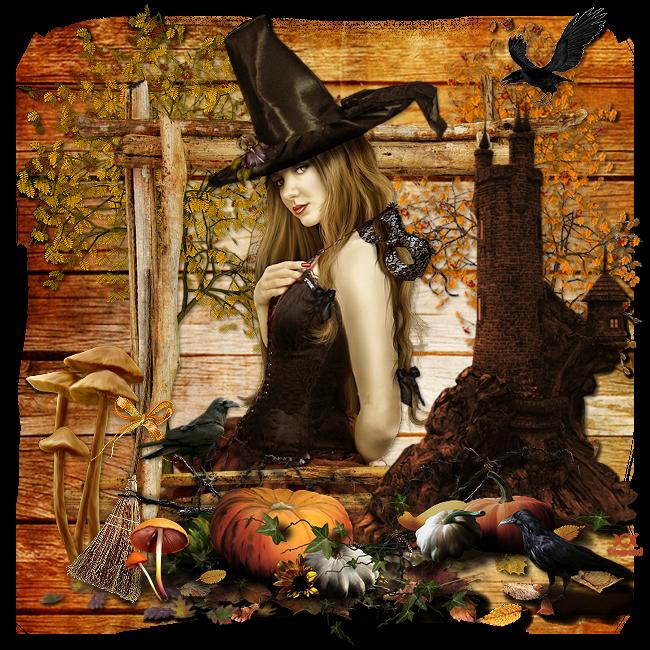 """Vos créations """"sorcière corbeau"""""""