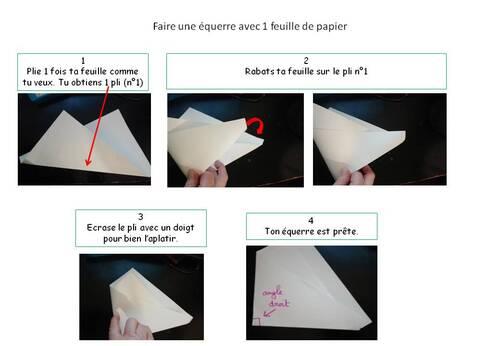 Fabriquer une équerre en papier