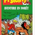 Goscinny avec un personnage d'un magazine promotionnel, Pistolin. Hubinon au dessin humoristique!