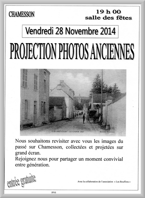 Projection de photos anciennes à Chamesson