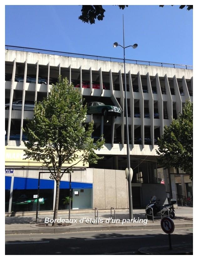 Un parking rassurant.....à Bordeaux..