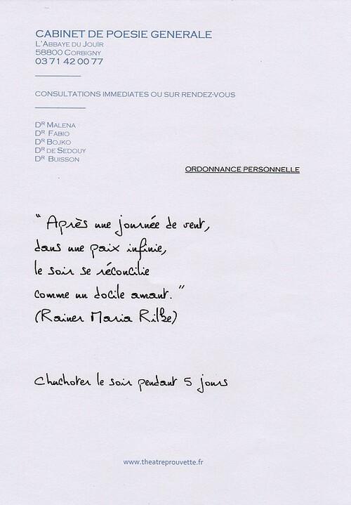 A Corbigny (58), la poésie se prescrit!