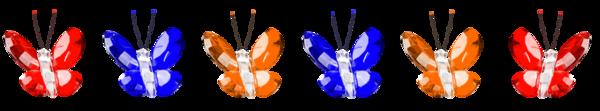 Barres de séparation papillons