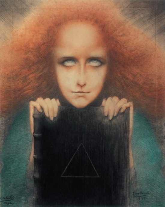 Jean Delville, Mysteriosa. Portrait Madame Stuart-Merrill