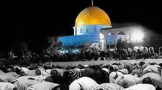 Les Palestiniens prient sur l'esplanade des Mosquées à Qods. (Photo d'illustration)