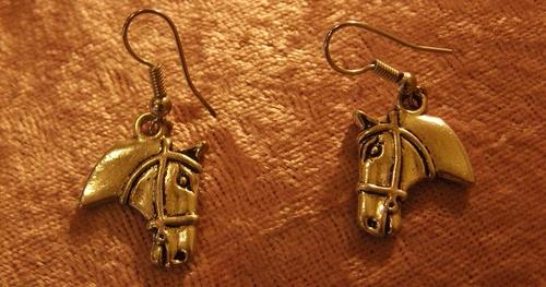 boucles d'oreilles chevaux