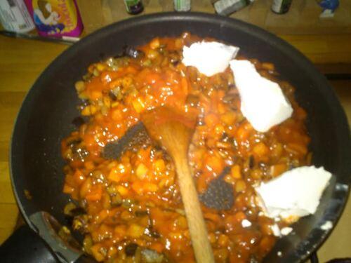 Un plat tout à fait de saison : des Cannelonis légumes/St morêt