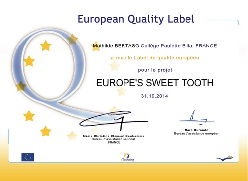 eTwinning EUROPEAN quality label