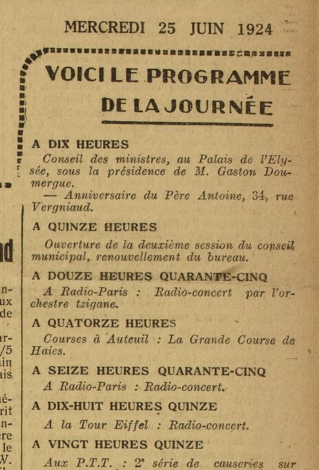 Anniversaire du Père Antoine (Paris-Midi, 25 juin 1924)