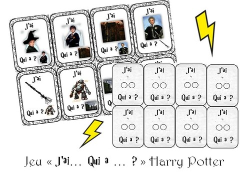 "Jeu ""J'ai... Qui a... ?"" Harry Potter"