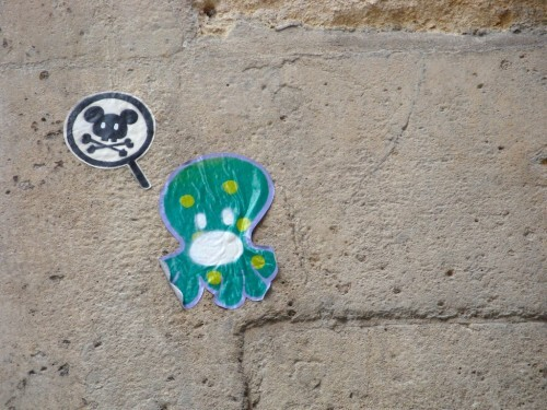 pieuvre Beaubourg street-art colère