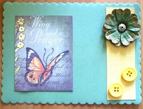 Carte fleur et papillon 1 - 2012