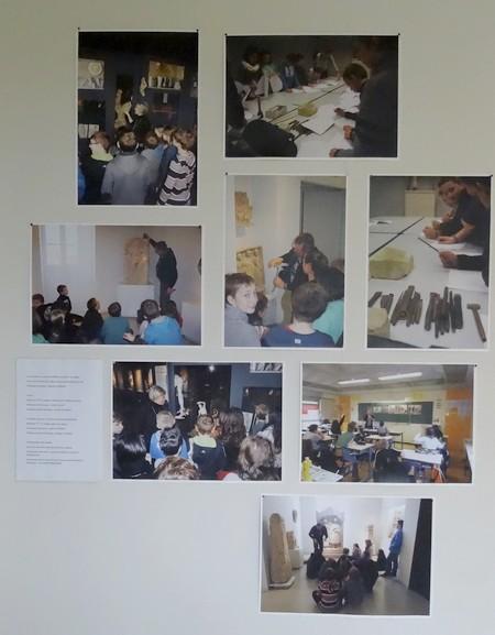 Des élèves de Laignes et de Châtillon sur Seine, ont travaillé à partir de l'exposition Argenton visible au Musée du Pays Châtillonnais-Trésor de Vix....