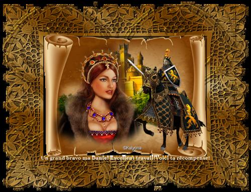 Belle Médiévale .. défi 4... Pour Kalyona