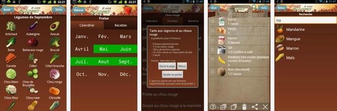 Bilan Beauté : La grosse récap' de l'année 2013 ! fruits et légumes de saison, les secrets d'esmerine, application, androïd