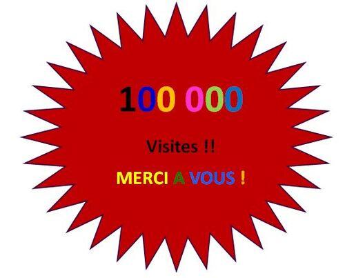 100 000 visites !!