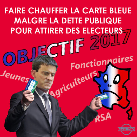 Valls sort la carte bleue