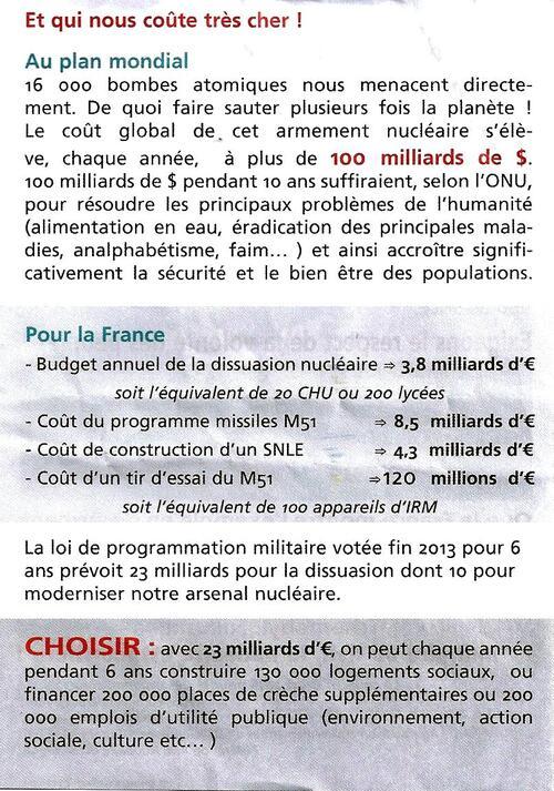 Les militants du Collectif Brestois pour le Désarmement Nucléaire s'adressent  aux ami-es des fêtes navales