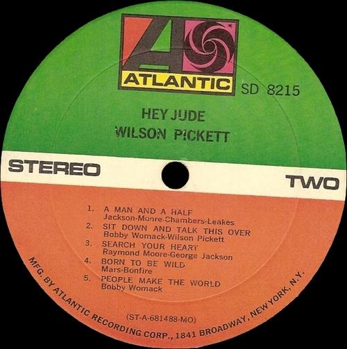 """Wilson Pickett : Album """" Hey Jude """" Atlantic Records SD 8215 [ US ]"""