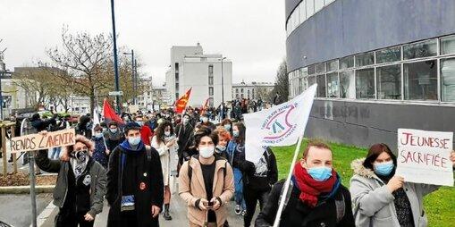 Environ 200 jeunes avaient manifesté le mardi 16 mars, à Brest.