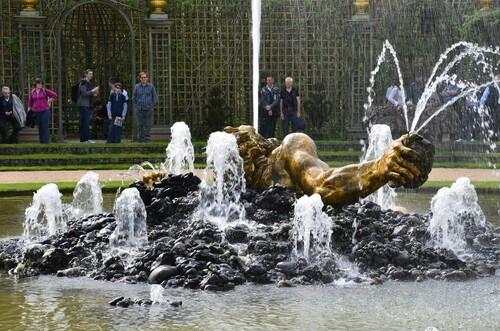 Les jets d'eau du château de Versailles