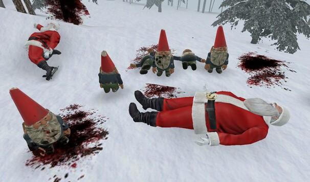 Baston entre Père-Noel et ses lutins