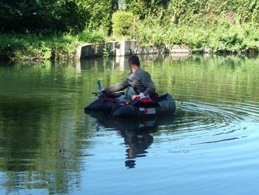 Pêche en Float Tube sur Le Loir