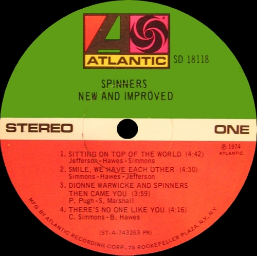 "The Spinners : Album "" New And Improved "" Atlantic Records SD 18118 [ US ]"
