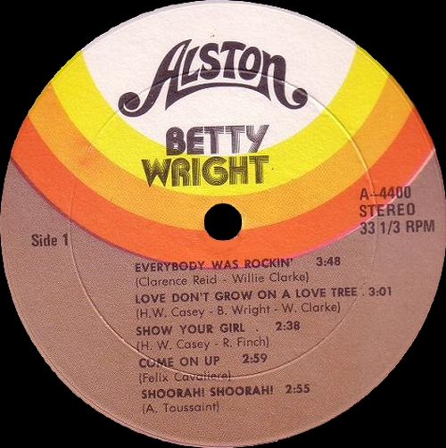 "Betty Wright : Album "" Danger High Voltage "" Alston Records A-4400 [ US ]"